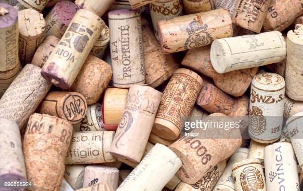 various corks - cork stopper stock photos and pictures