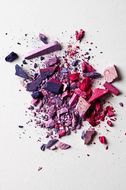 Various Crushed Make-up Powder In A Heap Wall Art