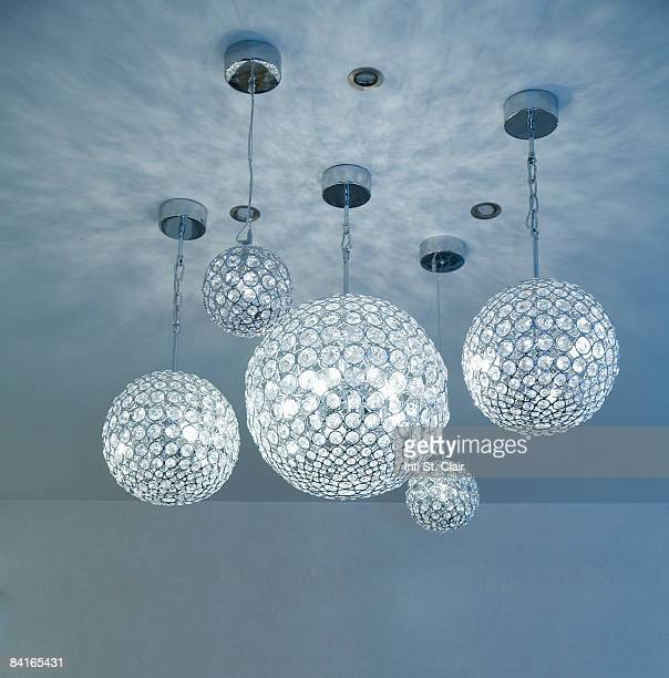 Various crystal globe chandelier lighting fixtures
