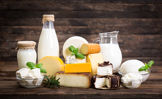Various dairy products 675334782