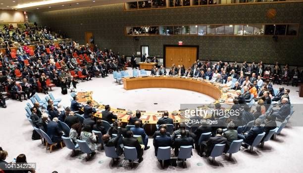 Various delegates seen at the United Nations Security Council in New York City
