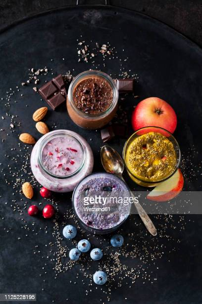 various desserts of chia seeds - 抗酸化物質 ストックフォトと画像