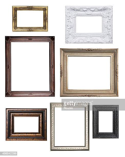 various empty classical frame collections - photograph stock pictures, royalty-free photos & images