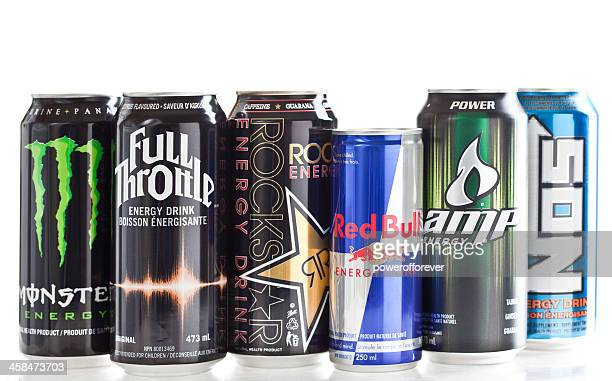various energy drink brands - energy drink stock pictures, royalty-free photos & images