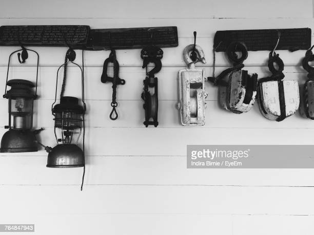 Various Equipment Hanging On Wall