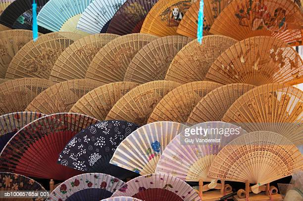 Various fans for sale on display