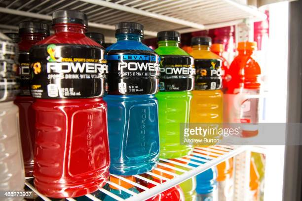 Various flavors of Powerade sports drink sit for sale on a refrigerator shelf in a store on May 5 2014 in New York City CocaCola has announced it...