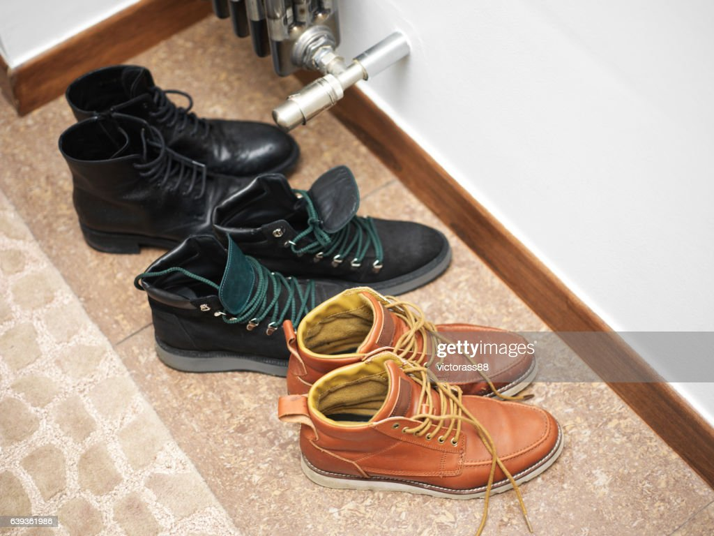 Various Footwear On A Floor : Stock Photo