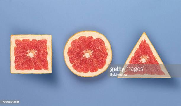 Various forms of grapefruit