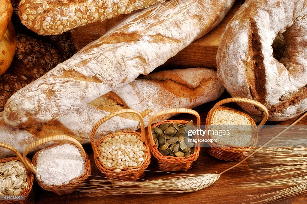 various fresh breads : Foto de stock