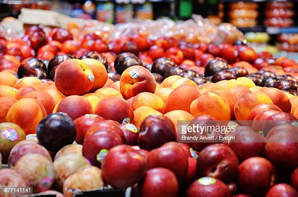 Various Fruits For Sale At Store
