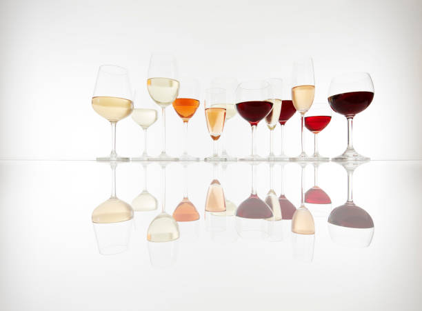 Various Glasses Wine Prosecco Champagne - Fine Art prints