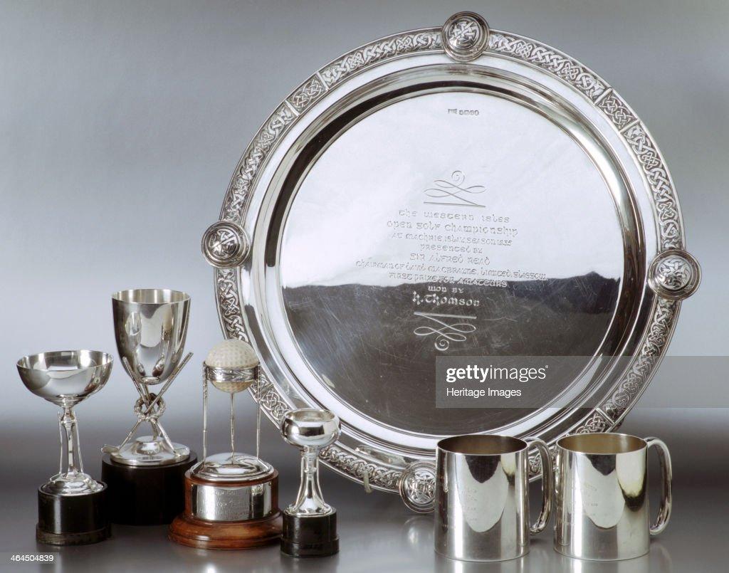 Golf Championship Trophies. : News Photo
