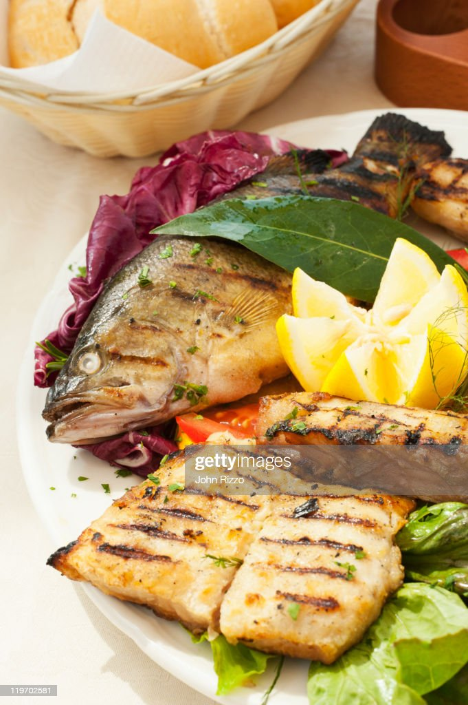Various grilled trout : Stock Photo