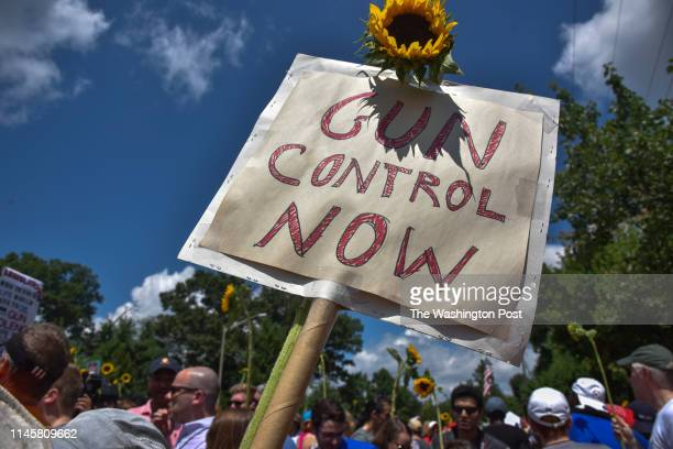 Various gun control organizations including The National Organization For Change March For Our Lives and Team Enough hold a demonstration on the...