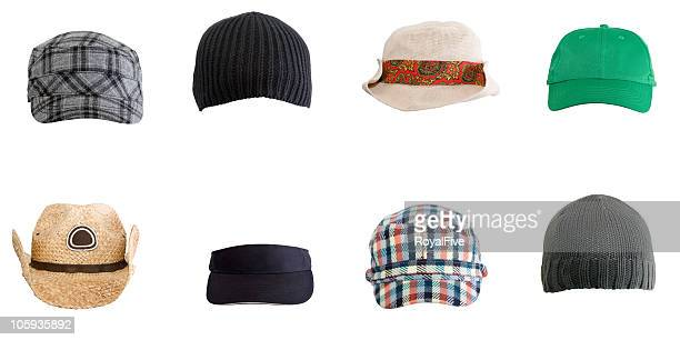 various hats - hat stock pictures, royalty-free photos & images