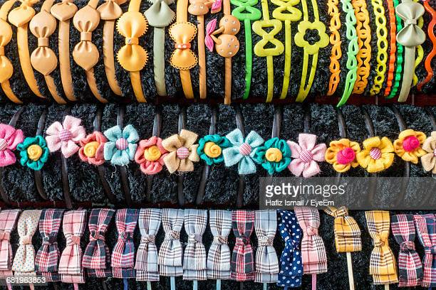 Various Headbands For Sale At Market