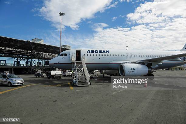 Various images of Aegean Airlines including the interior of the Airbus fleet Aegean is a Star Alliance member