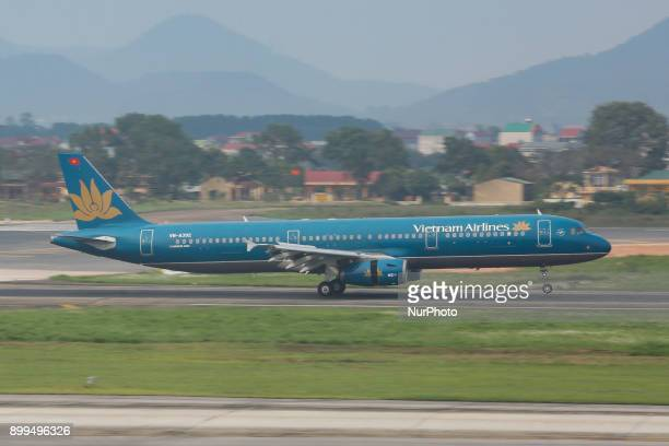 Various images of the fleet of Vietnam Airlines a SKYTEAM member as seen in Hanoi Noi Bai International Airport The flag carrier airline of Vietnam...