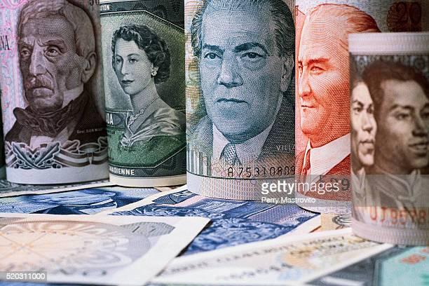 Various International Paper Bills