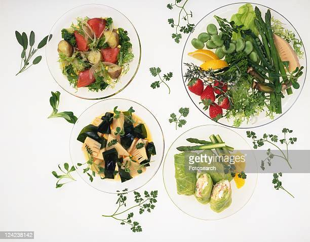Various Kind of Vegetable Dish, High Angle View
