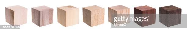 various kind of wooden blocks - cuadrado forma bidimensional fotografías e imágenes de stock