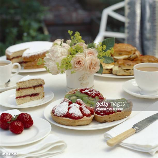 various kinds of food from the national trust - afternoon tea stock pictures, royalty-free photos & images