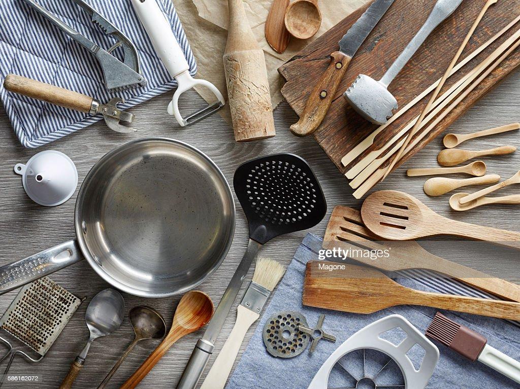 さまざまなキッチン用具 : ストックフォト