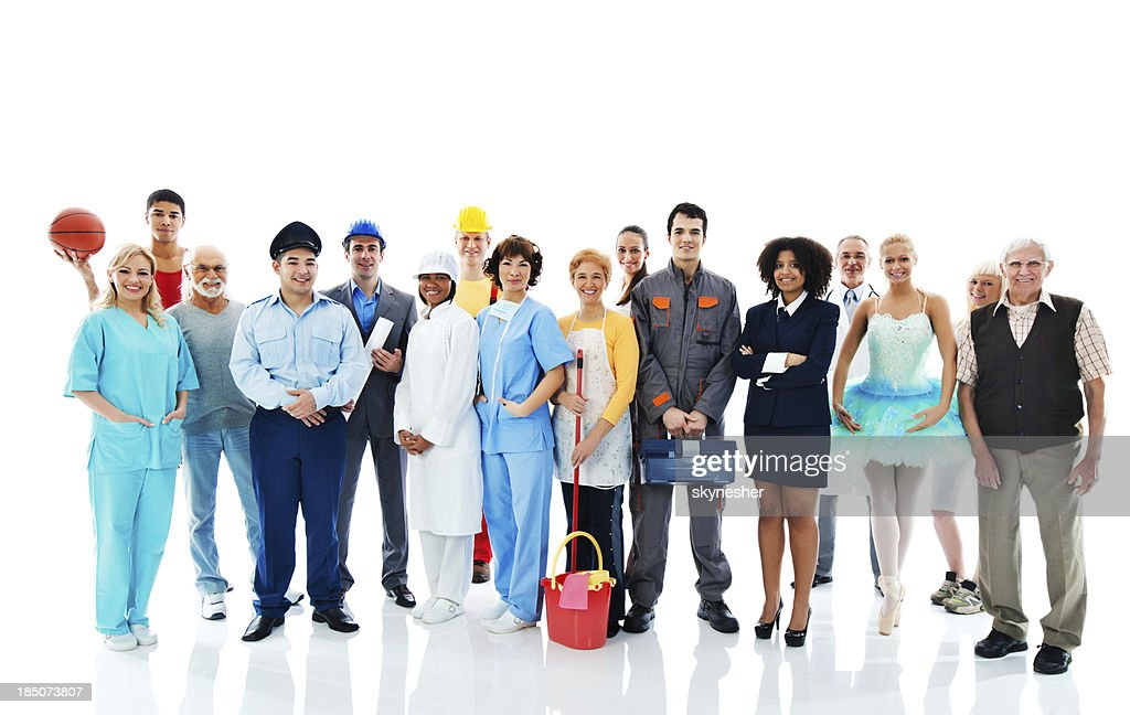Various Occupations. : Stock Photo