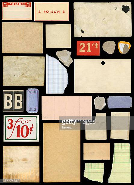 various paper scraps and ephemera - lined paper stock pictures, royalty-free photos & images