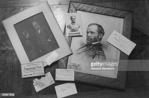 Various photos invitations drawings belonging to General William Tecumseh Sherman of Civil War fame now in collection of greatgrandson William Hamlen