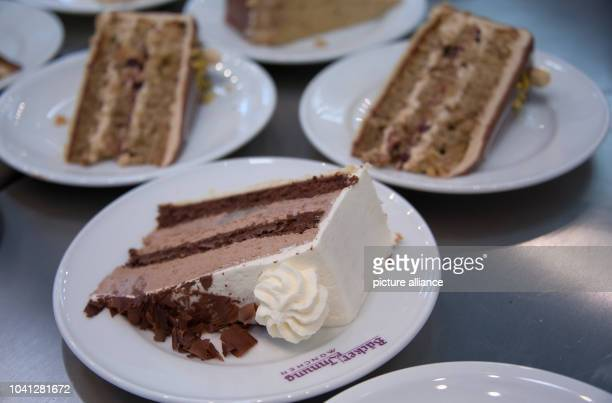 Various pieces of cake pictured at a booth at the Internationale Handwerksmesse in Munich Germany 26 February 2016 More than 1000 exhibitors of 60...