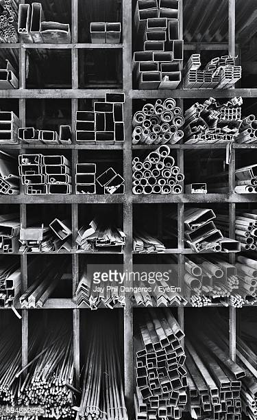 Various Pipes And Metal In Warehouse