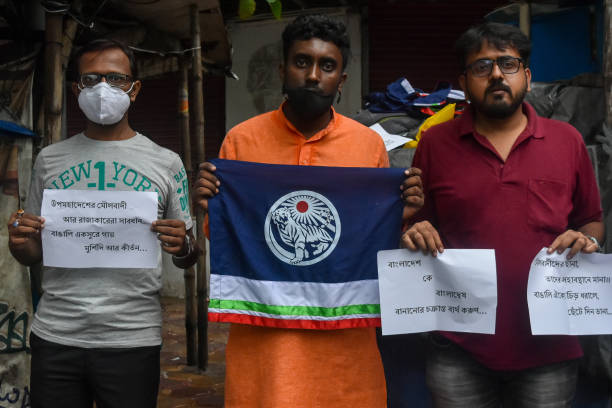 IND: Protest Against Bangladesh Riots In India