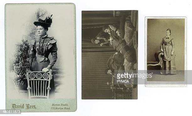 Various portraits of young women circa 1890s to 1900s