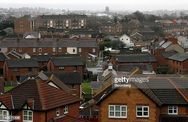 Various residential housing is seen in Wrexham Wales on Friday Feb 24 2012 UK house prices held their value for a second month in February boosted by...