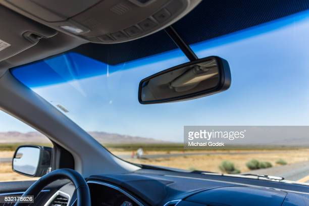 various road trip environmental scenes - rear view mirror stock pictures, royalty-free photos & images