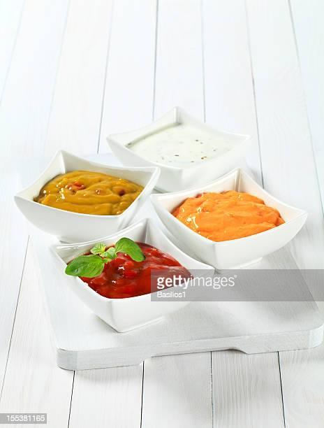 Verschiedene salsa-dips