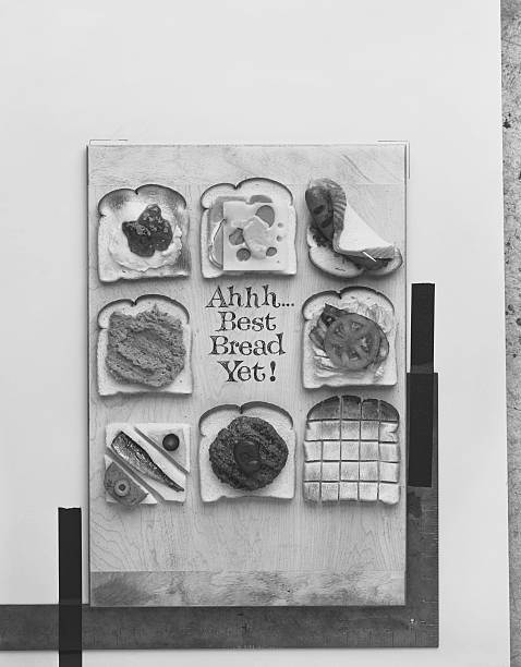 Various Sandwiches On Wooden Board Wall Art