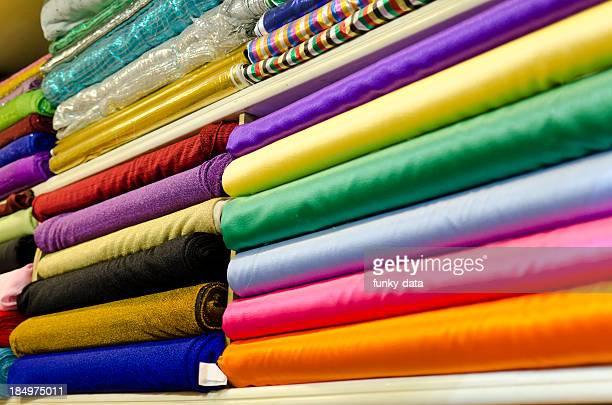 Various satin fabrics