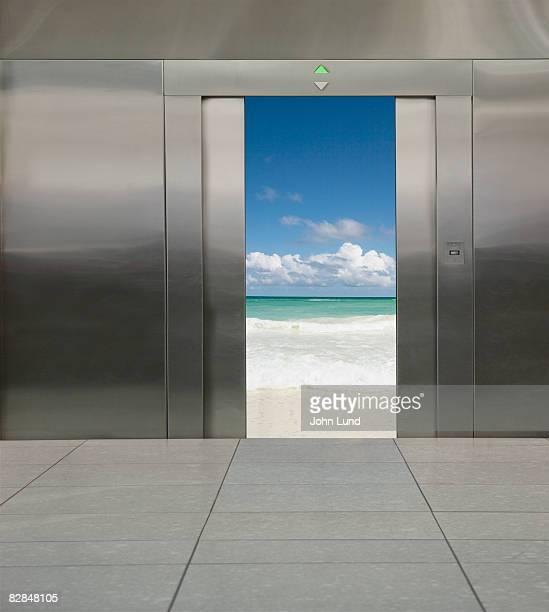 Various scenes in an elevator