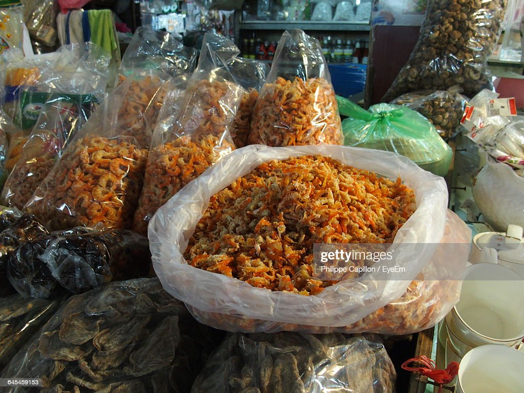 Various Seafood For Sale In Fish Market Stock Photo - Getty