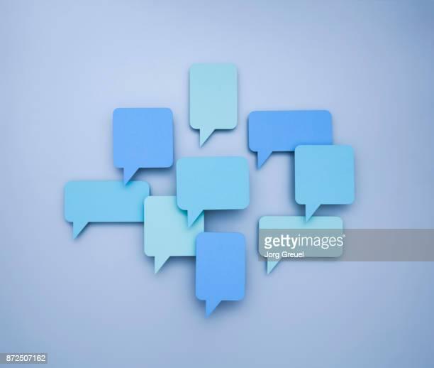 various speech bubbles (paper cutouts) - 繁栄 ストックフォトと画像