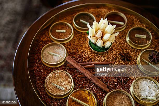 Various spices spa in Thailand.
