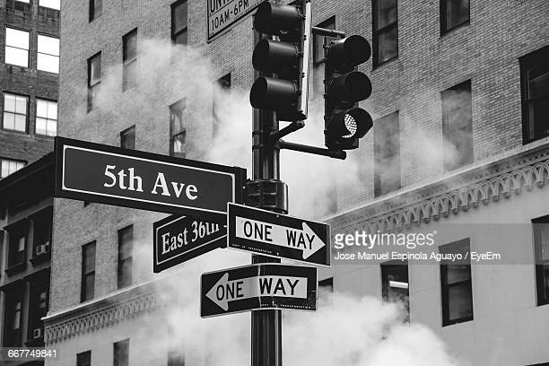 Various Street Signs In New York City