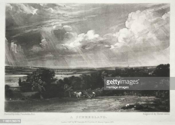 Various Subjects of Landscape, Characteristic of English Scenery from Pictures Painted by John Constable, R.A.: A Summerland, 1831. Creator David...
