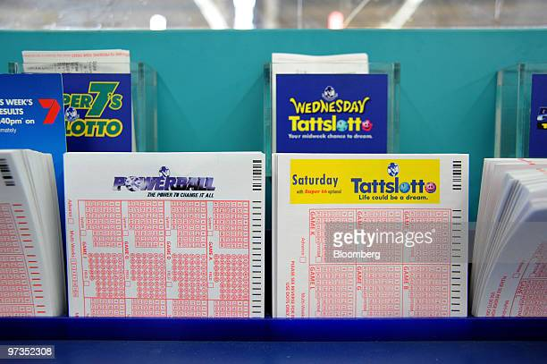 Various Tatts Group Ltd lottery forms are displayed at a newsagent in Melbourne Australia on Tuesday March 2 2010 Tatts Group Ltd Australia's...