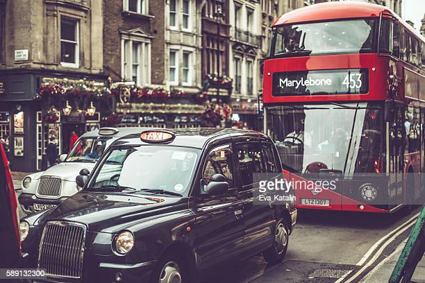Various transport modes in London