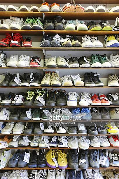 Various types of footwear