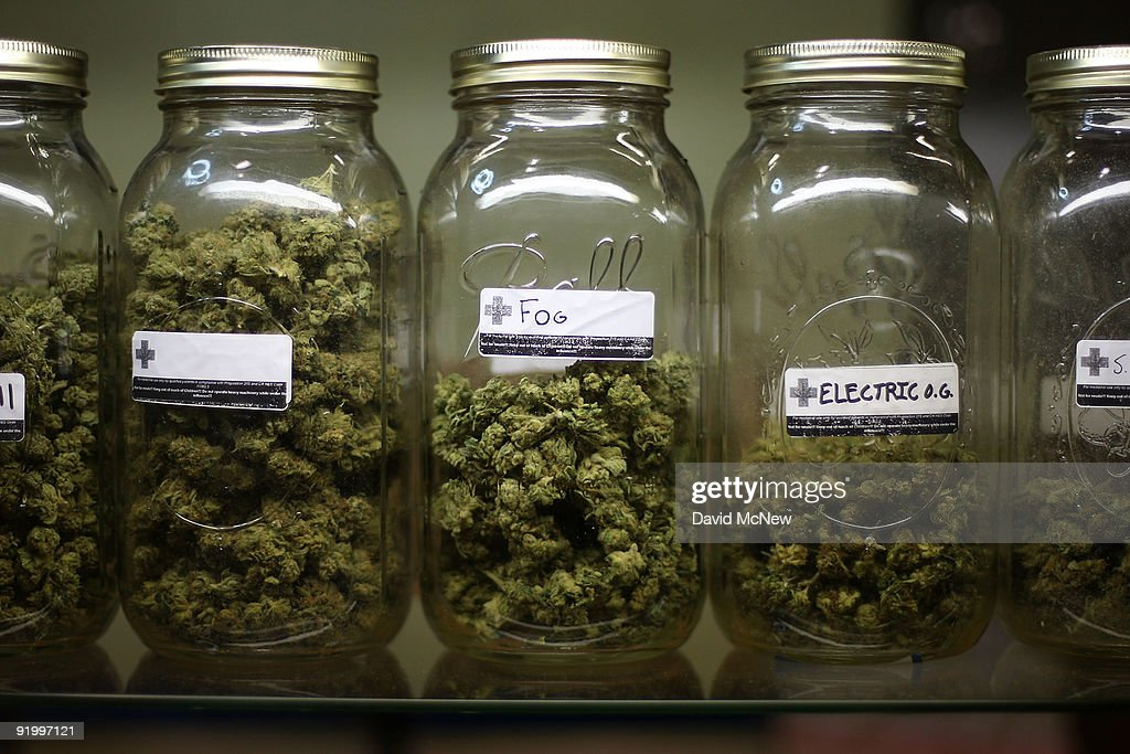 Various types of marijuana are on display at Private Organic Therapy (P.O.T.), a non-profit co-operative medical marijuana dispensary, on October 19, 2009 in Los Angeles, California. Attorney General Eric Holder announced new guidelines today for federal prosecutors in states where the use of marijuana for medicinal purposes is allowed under state law. Federal prosecutors will no longer trump the state with raids on the southern California dispensaries as they had been doing, but Los Angeles County District Attorney Steve Cooley recently began a crackdown campaign that will include raids against the facilities. Cooley maintains that virtually all marijuana dispensaries are in violation of the law because they profit from their product. The city of LA has been slow to come to agreement on how to regulate its 800 to 1,000 dispensaries. Californians voted to allow sick people with referrals from doctors to consume cannabis with the passage of state ballot Proposition 215 in 1996 and a total of 14 states now allow the medicinal use of marijuana.